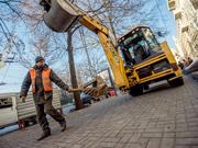 На улице Сумской проводятся ремонтные работы методом горизонтально направленного бурения