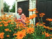 С дочерью Наташей