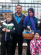 С семьей (жена Елена, сын Артем и дочь Ксения)